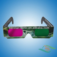 OEM Printing red blue paper 3d glasses, 3d video glasses, Red Cyan Glasses
