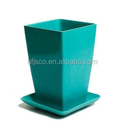 Popular colorful disposable eco organic fiber flowerpot with tray