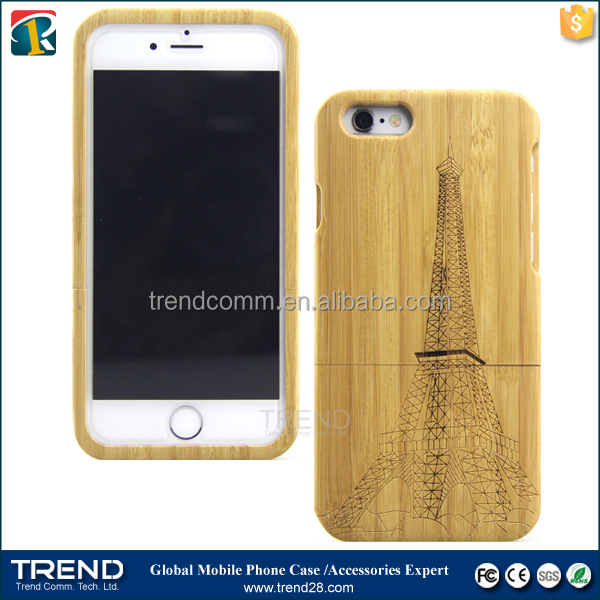 cell phones smartphones wood case for iphone 6 plus