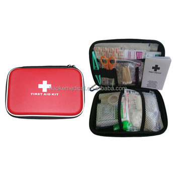 Hot selling first aid EVA hard case, first aid PU box kit for outdoor travel activities