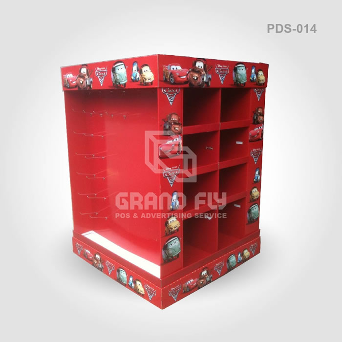 4 Side Full Pallet Display Stand with Hooks & Divider