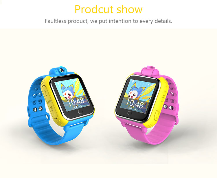 2017 New Hotsale Support 3G 2100Mhz network GPS Kids Tracker Smart Watch