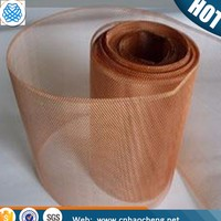 Nonmagnetic 200 mesh red copper rfid blocking fabric