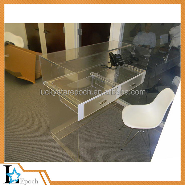 Acrylic furniture office desk office table computer acrylic desk with drawer