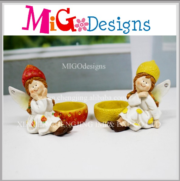 Customized Design Baby Resin Fairy Figurines For Candle Holder