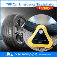 TPF 12V DC automatic car tyre air inflator pump for car tyres balls balloons airbed