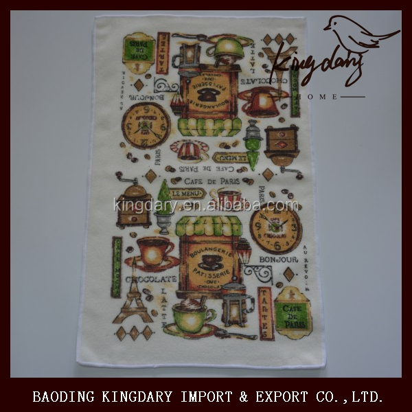 Microfiber knitting Customized printed kitchen towels cloth