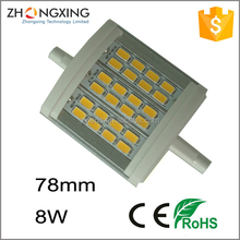 LED R7S Linear lamp Double ended R7S halogen replacement,j-type R7S bulb,8w LED lighting R7S