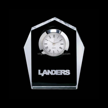 Good crystal desk clock as cool corporate gifts