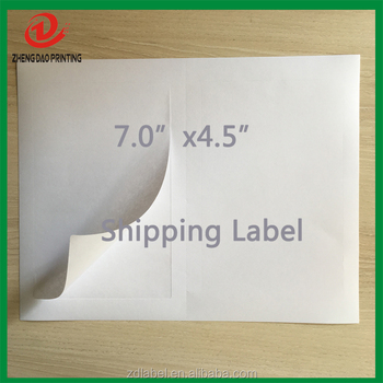 1000 Self Adhesive Round Corner 7x 4.5 Blank White Shipping Labels Perforated for UPS USPS