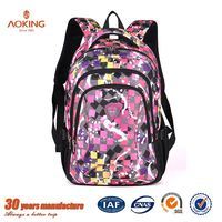 Custom floral light weight waterproof blank famous brand school bags/.