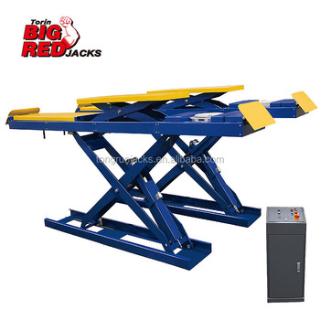 3.5 Ton Low Profile Hydraulic Scissor Car  Lift QJYJ35