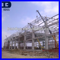 ISO9001 Prefabricated galvanized steel structure tube truss structure