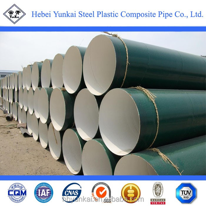 Large diameter inner and outer PE coated steel pipe