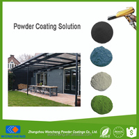 RAL 9005 Jet Black Color Polyester Powder Coating Exterior Paint For Funitures