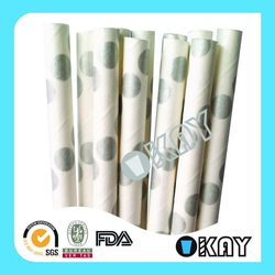 Character Celebrate Hot Selling Paper Drinking Straws Multi Color Dots