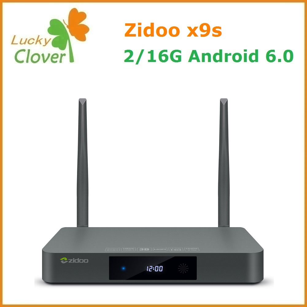 Original ZIDOO X9S Media player Android 6.0 + OpenWRT(NAS) Realtek RTD1295 2G/16G 1000M android TV box
