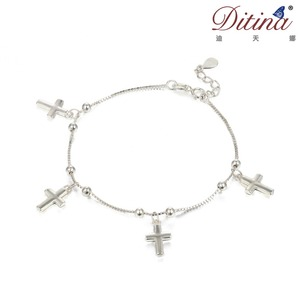Alibaba China new fashion jewelry for baby and girl cross bracelet anklet