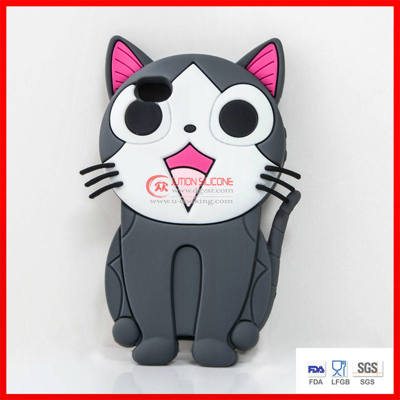 cat shape silicone phone cases