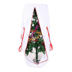 Heavy Duty Large White Artificial Xmas Tree Bag For Clean Up Holiday Up to 9ft