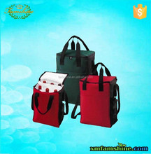 customized polyester insulated ice cooler bag wine