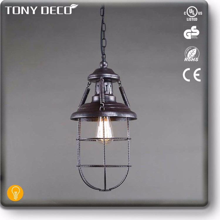 BAA60453 Chinese Style Metal Industrial Home Lamp Chandelier Retro
