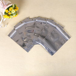 Good quality silver zip lock aluminium foil bag laminated dried food bag ziplock stand up pouches bags