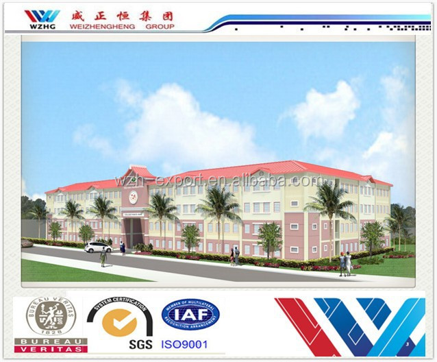 Light steel prefabricated steel structure building pre fabricated school house