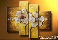 4 panel piece oil painitng handmade flower abstract oil painting on canvas wall decoration
