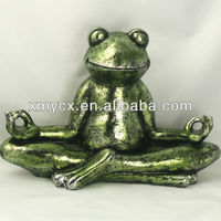 Large polyresin sitting frog figurine for home decor