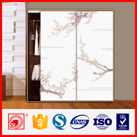 Cheap wall to wall sliding wardrobe doors with double