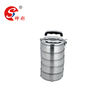 2/3/4/5 Tiers Portable Stainless Steel Storage Box /Food Container/ Lunch Box