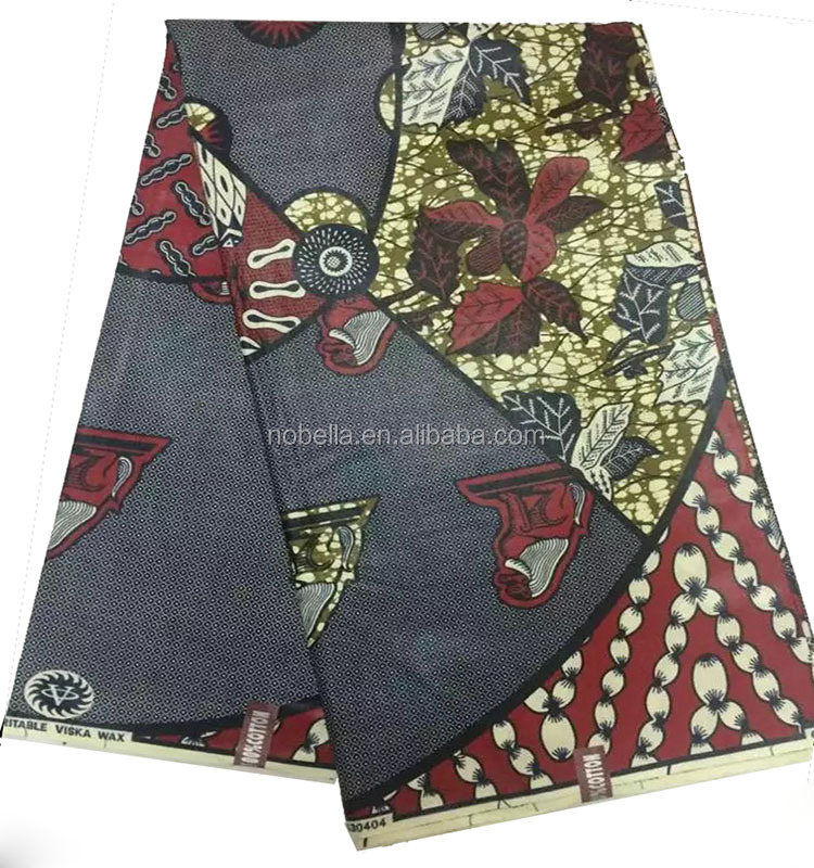 Cotton Fabric / factory price polyester cotton fabric / African Wax Prints Fabric 6 Yards