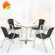 manufacture fold away white oak dining table and chairs