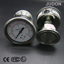 Oil Filled Pressure Gauge Sanitary Flush Diaphragm Manometer