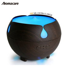 Aromacare Wood Essential Oil Diffuser with Water 600ML Cool Mist Humidifier Quiet Nebulizer