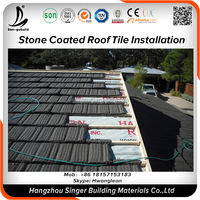 Corrugated Lightweith Metal Aluminum Sheet, Natural sand stone coated roof brick clay tiles