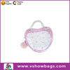 Clear plastic lovely teens PVC wholesale toiletry bags with hanger