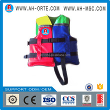 colorful pvc cute pfd children safety life vest life jacket with crotch strap