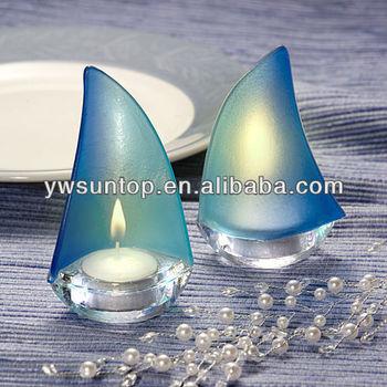Bleu voile givr verre bateau porte gobelet pour d coration de mariage buy product on - Porte gobelet pour bateau ...