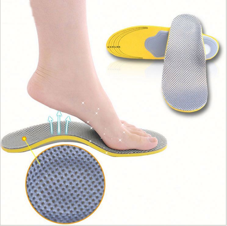 Breathable comfort reusable soft silicone gel sport insole shoes