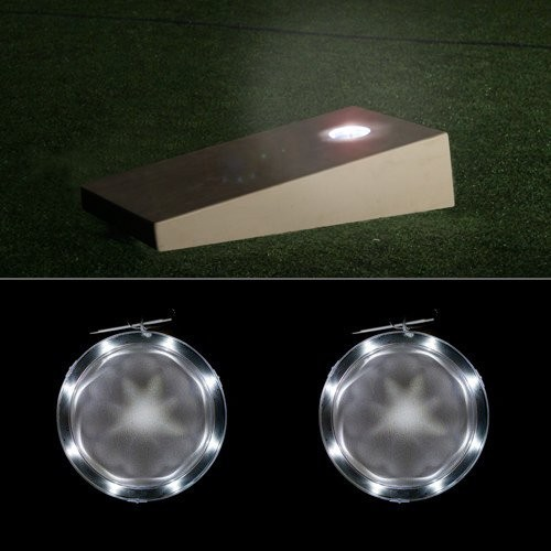 Ultra Bright Original LED Cornhole Night Lights (Set of 2) Pick From SEVEN Color Options. Can Last For 70+ Hours On 2 AA Batte