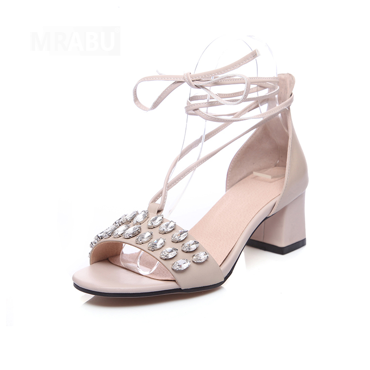 hot leather ladies lace up leather sandals fancy footwear for women