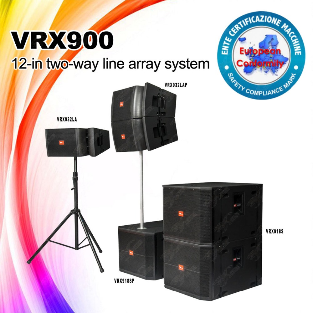 VRX918SP/VRX932LAP active Line Array equipment dj bass speaker, dj sound box