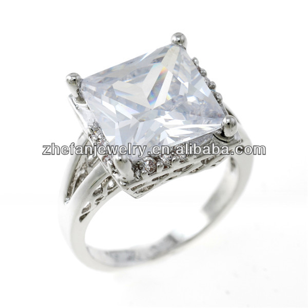 square ring mens square band ring cz rings thailand