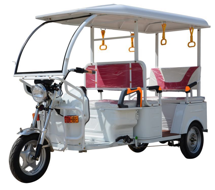 Strong power Leac acid battery auto rickshaw for 6 passenger