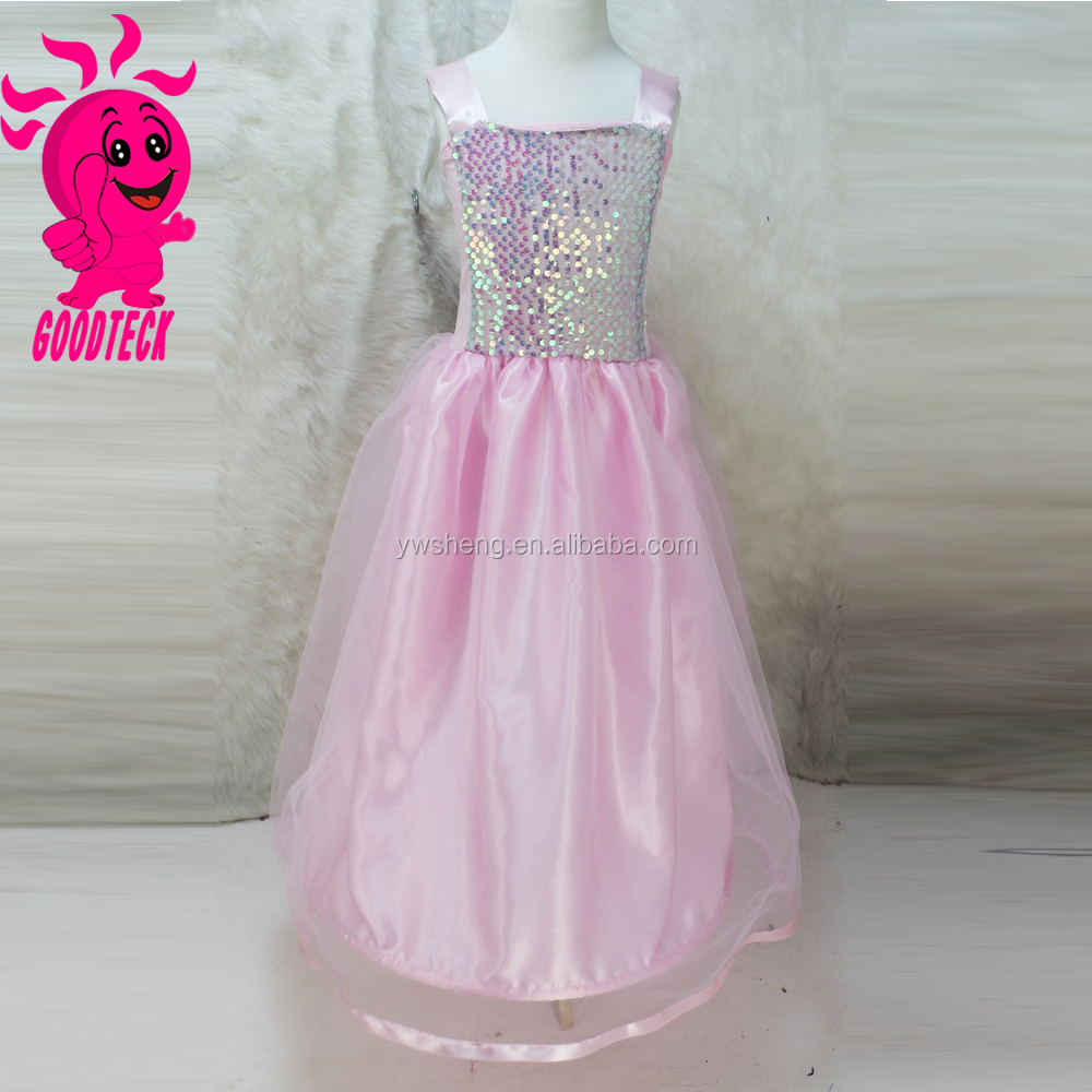 2015 Wholesale New Design Pink Sequins Girls Party Dress Evening Dresss Fashion Kids Party Wear Girl Dress