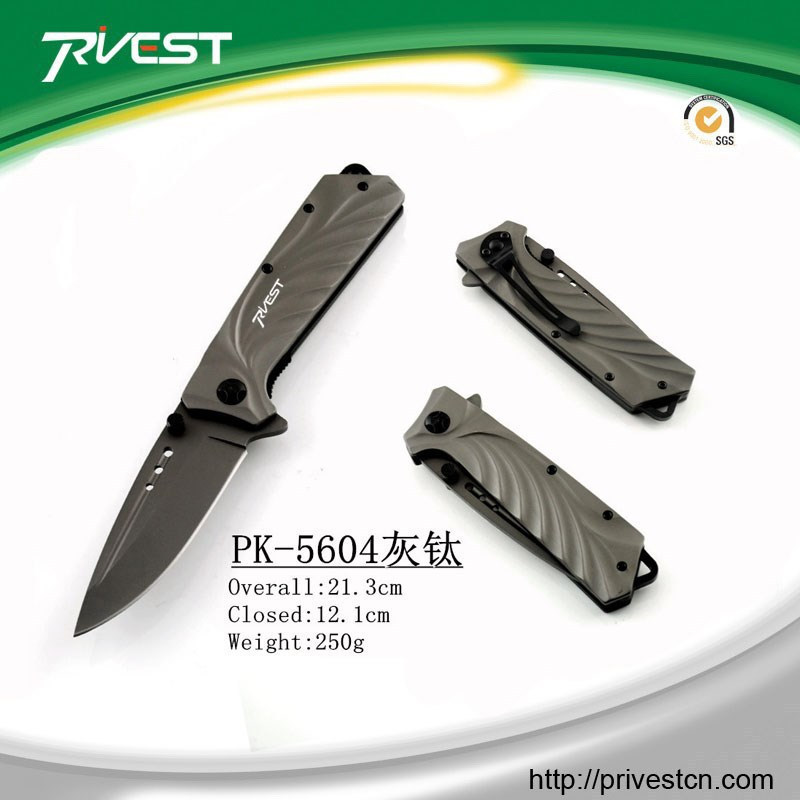 Titanium Coating Quality Camping folding Knives