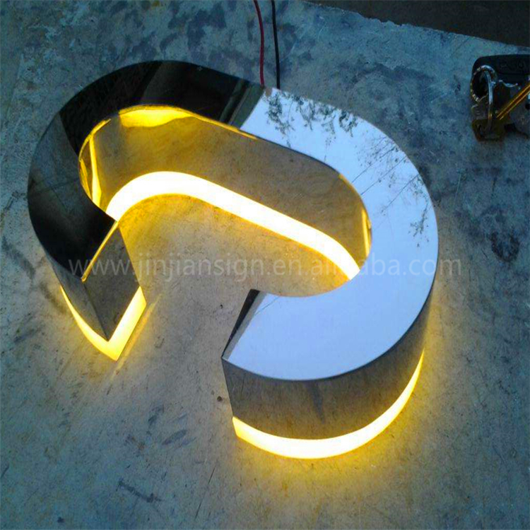 Channel 3d led tracing lighted letters , led lightbox letter , outdoor advertising signage