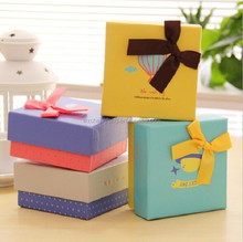 christmas gift box packaging with bowknot